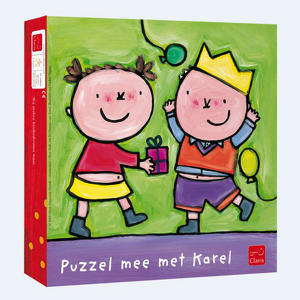 Houten puzzel - Karel is jarig